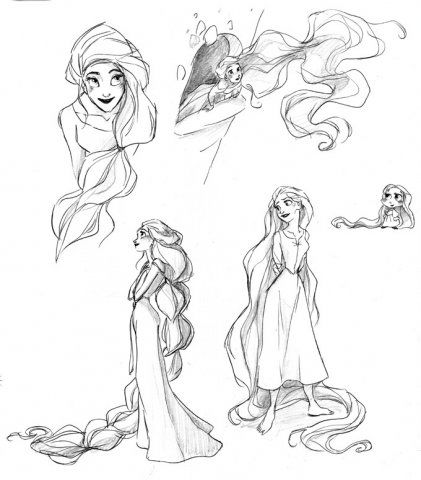 difference between tangled and classic princess