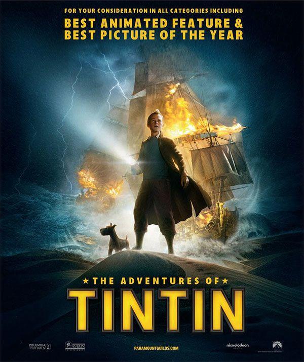 приключения тинтина тайна единорога постер